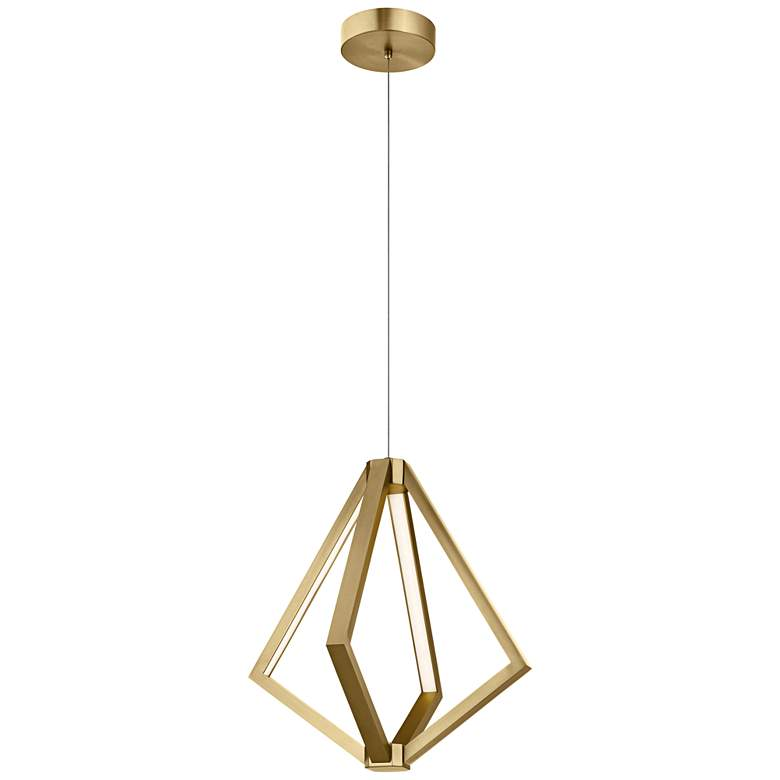 "Elan Everest 19 3/4"" Wide Champagne Gold 4-Light LED Pendant"