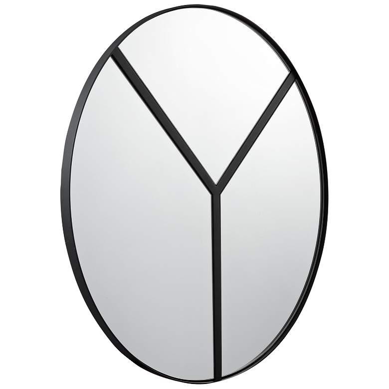 "Varaluz Casa Lyra Black 30"" Round Accent Wall Mirror"