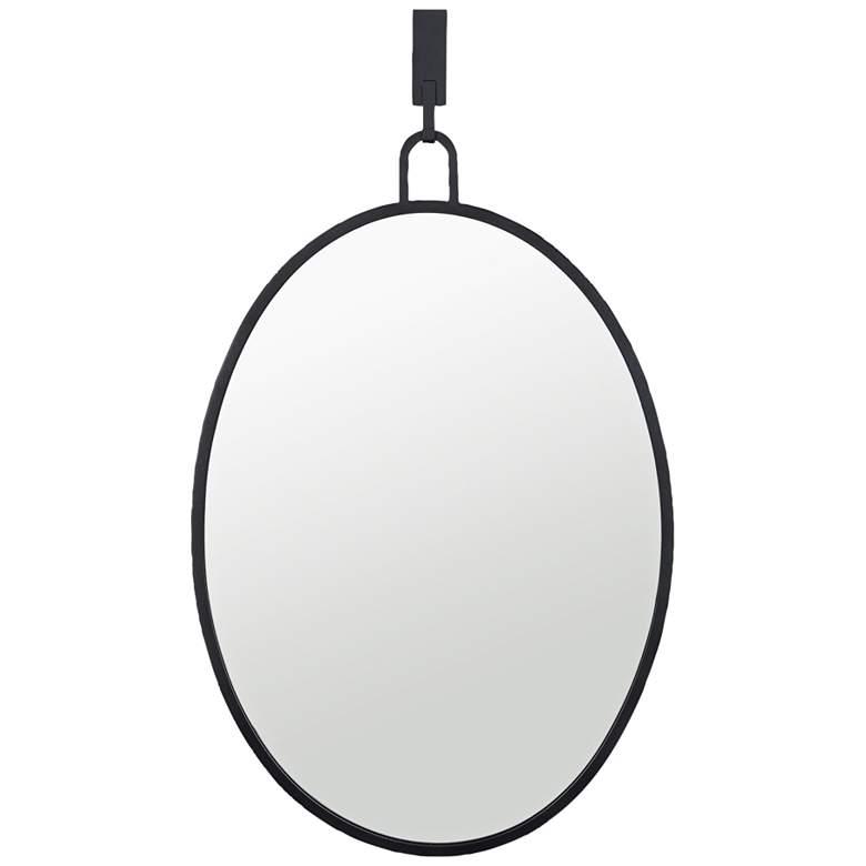 "Varaluz Casa Stopwatch Black 22 1/4"" x 33 1/4"" Oval Wall Mirror"