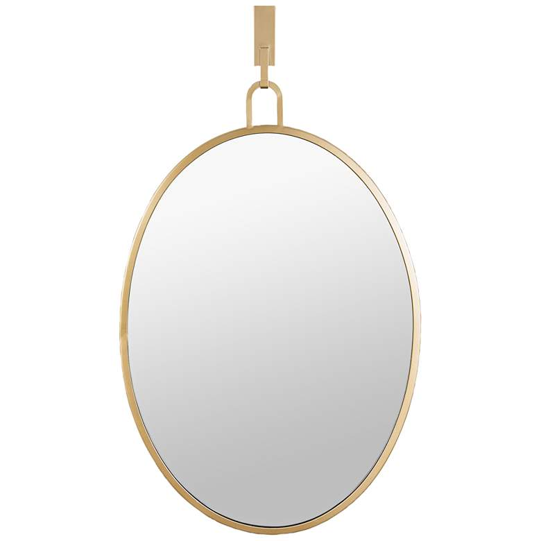 "Stopwatch Gold 22"" x 30"" Oval Wall Mirror"