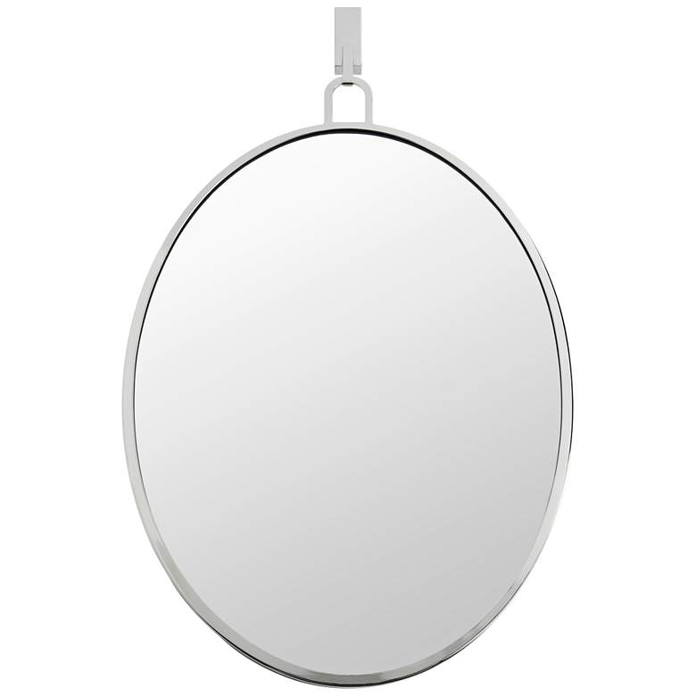 "Varaluz Casa Stopwatch Polished Nickel 22"" x 30"" Wall Mirror"