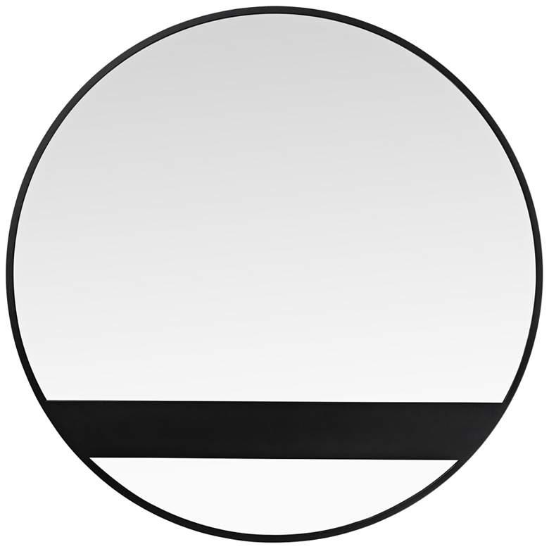 """Varaluz Casa Cadet Black 30"""" Round Wall Mirror"""