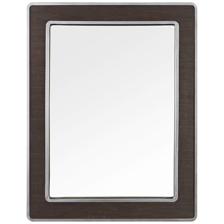 """Varaluz Casa Macie Wood 27 3/4"""" x 35 1/2"""" Wall Mirror"""