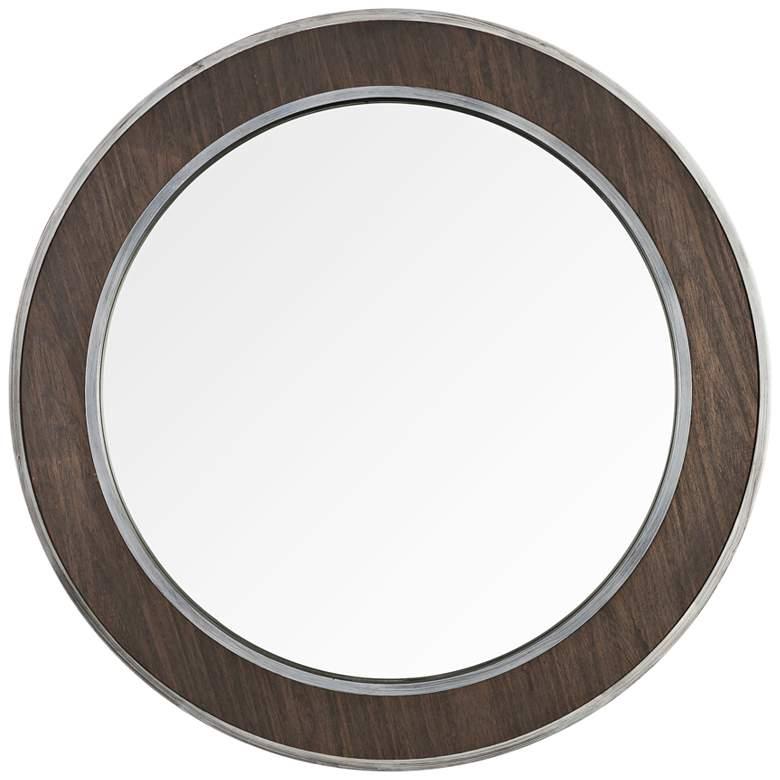 "Varaluz Casa Macie Wood and Metal 30"" Round Wall Mirror"