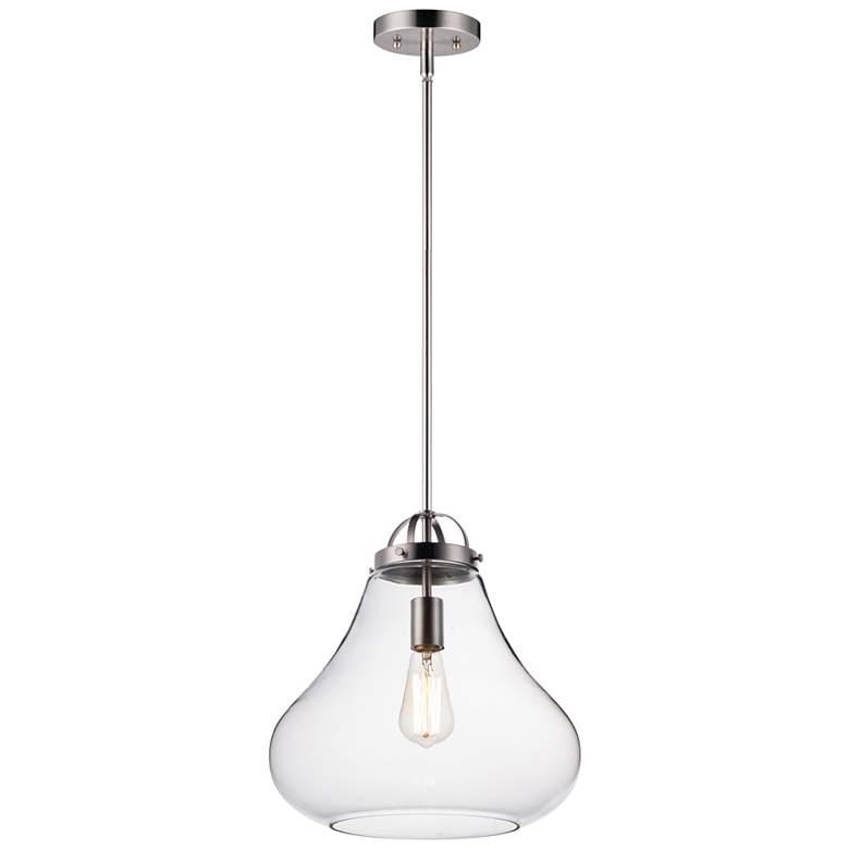 "Maxim Stella 13 3/4"" Wide Satin Nickel Pendant Light"