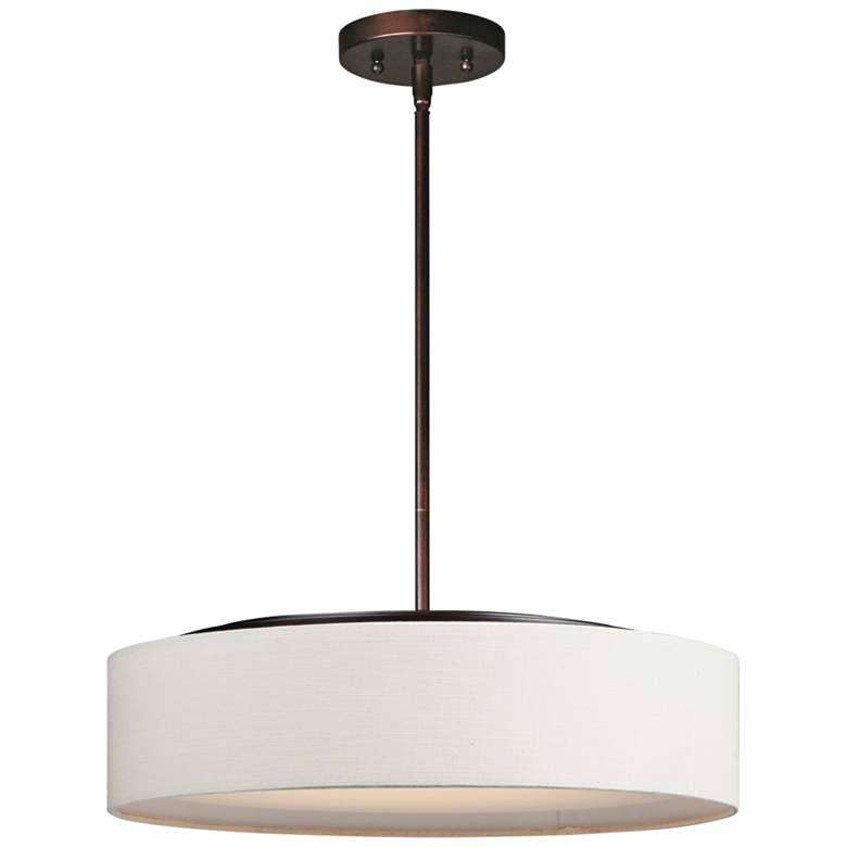 "Maxim Prime 20"" Wide Oatmeal Linen Shade LED Pendant Light"