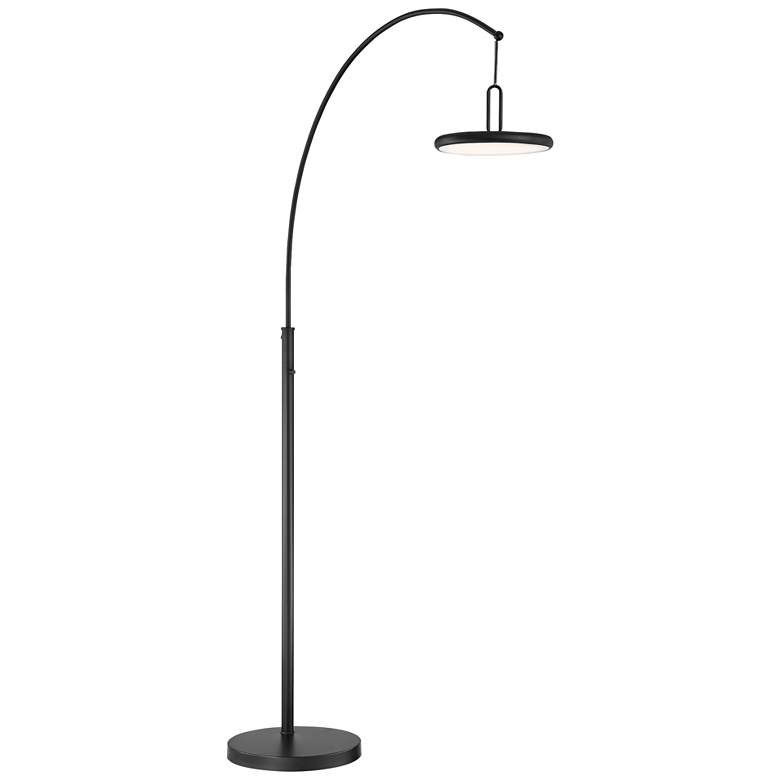 Lite Source Sailee Black LED Arc Floor Lamp