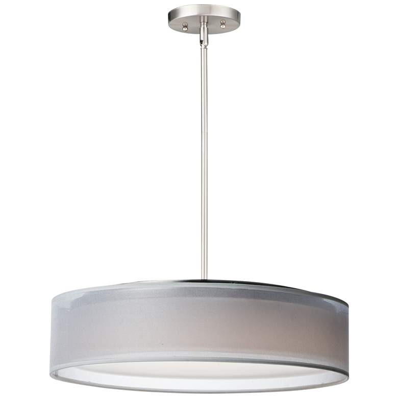 "Maxim Prime 20"" Wide White Organza Shade LED Pendant Light"