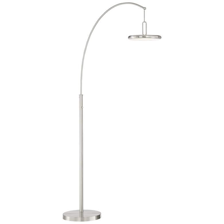 Lite Source Sailee Brushed Nickel LED Arc Floor Lamp
