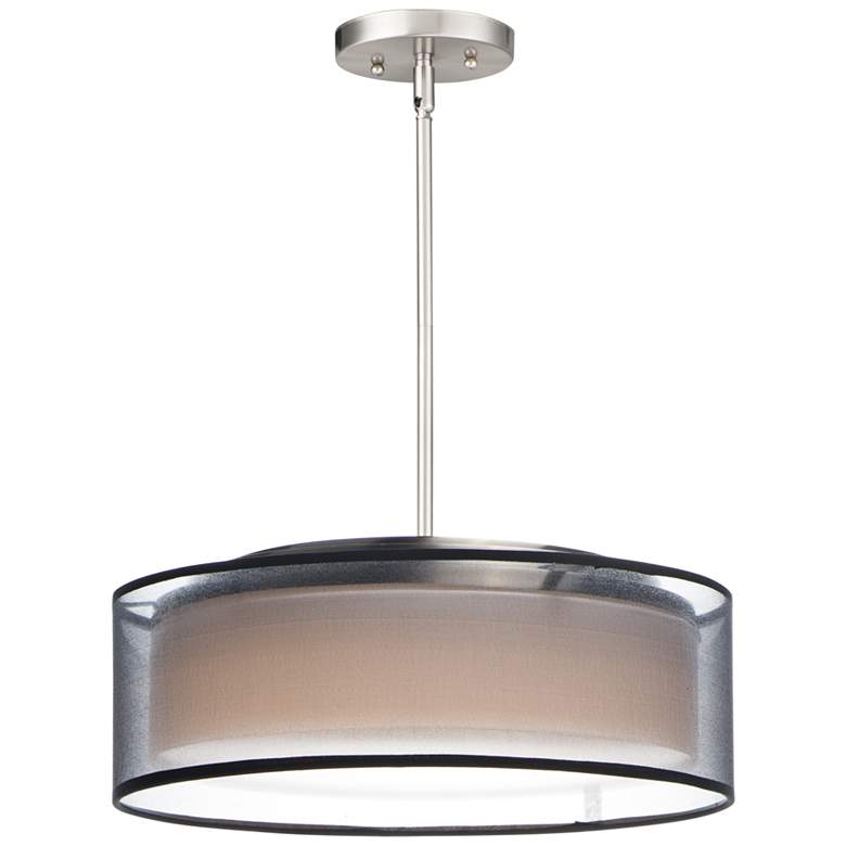 "Maxim Prime 16"" Wide Black Organza Shade LED Pendant Light"