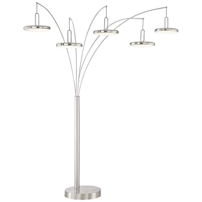 Lite Source Sailee Brushed Nickel 5-Light LED Arc Lamp