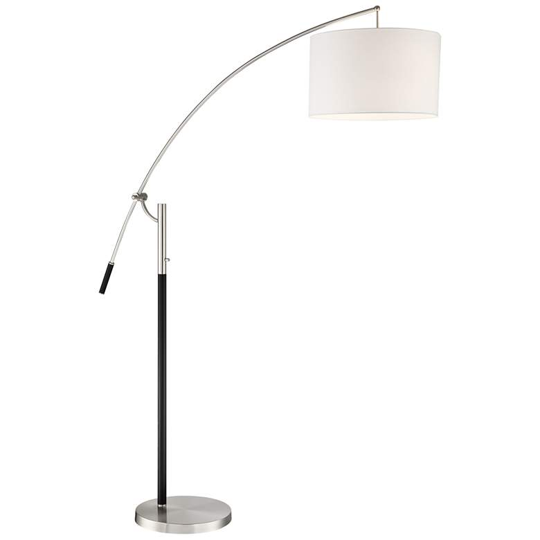 Florencia Brushed Nickel Arc Lamp with Adjustable Arm