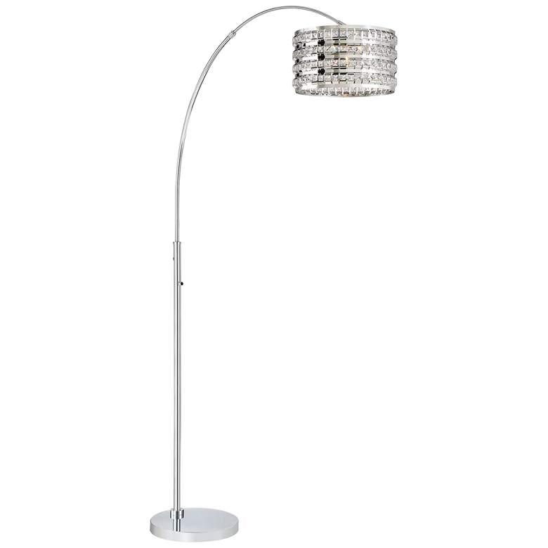 Lite Source Valerie Chrome Metal Arc Floor Lamp