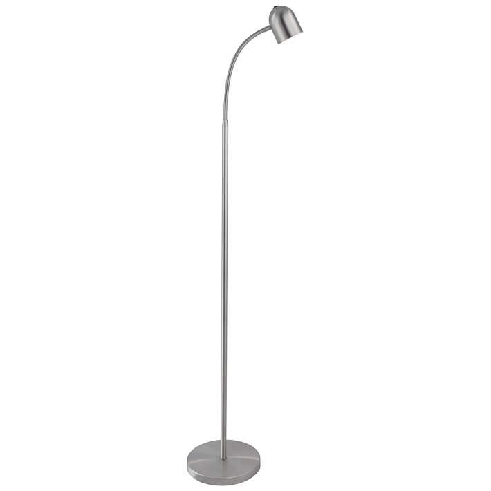 Lite Source Tiara Brushed Nickel Led Gooseneck Floor Lamp