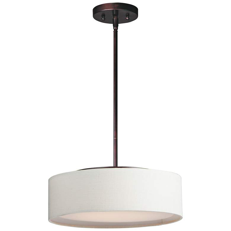 "Maxim Prime 16"" Wide Oatmeal Linen Shade LED Pendant Light"