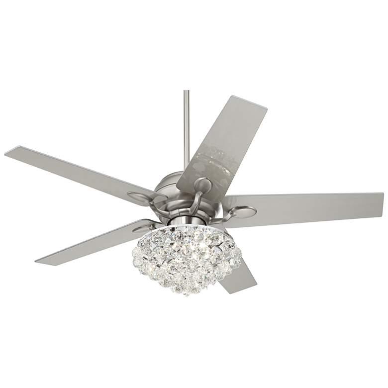 """52"""" Casa Optima Crystal LED Ceiling Fan w/Wall Control"""