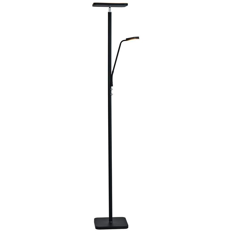Lite Source Hector Black LED Torchiere Lamp w/