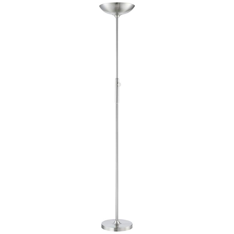 Lemuel II Brushed Nickel Metal LED Torchiere Floor