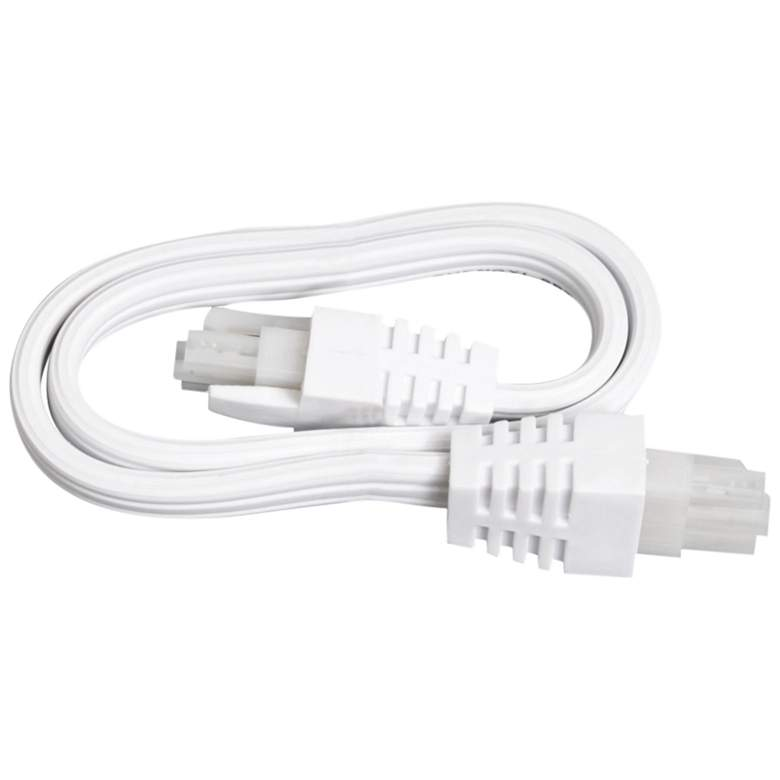 """Noble Pro 12"""" White Undercabinet Light Interconnect Cord"""