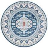 Safavieh Kazak 118 Blue and Creme Oriental Area Rug