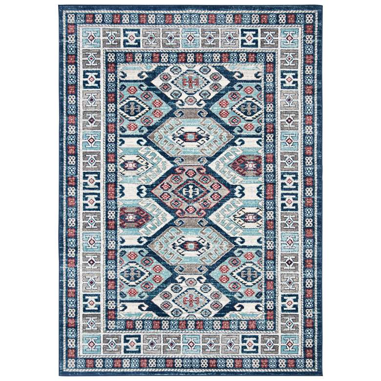 "Safavieh Kazak 100 5'3""x7'6"" Blue and Gray Oriental Area"