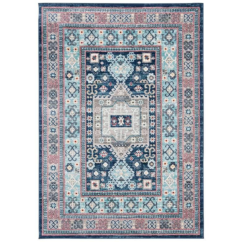 "Safavieh Kazak 100 5'3""x7'6"" Multi-Color Blue Oriental Ru"