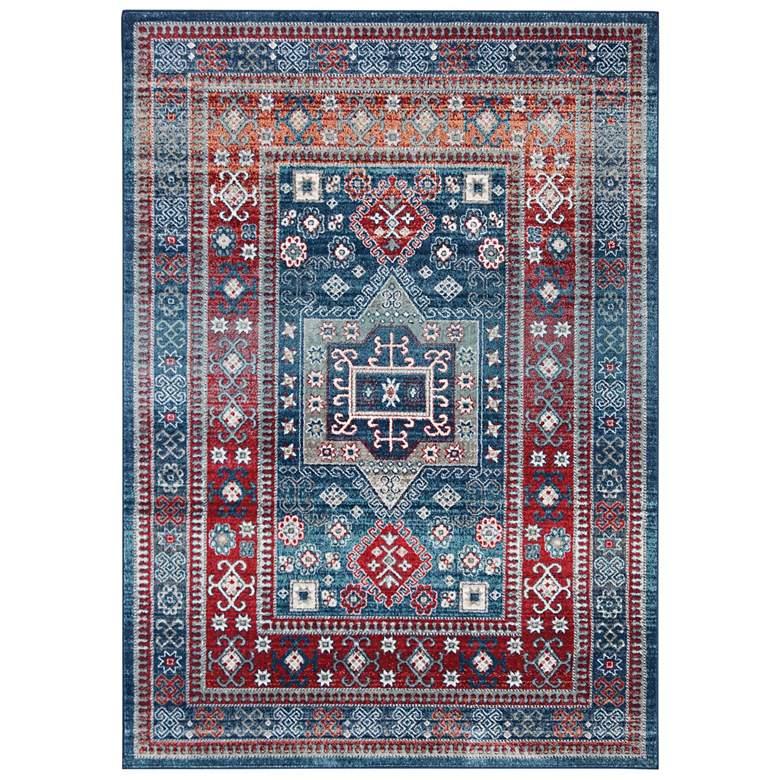 "Safavieh Kazak 100 5'3""x7'6"" Red and Blue Oriental Area R"