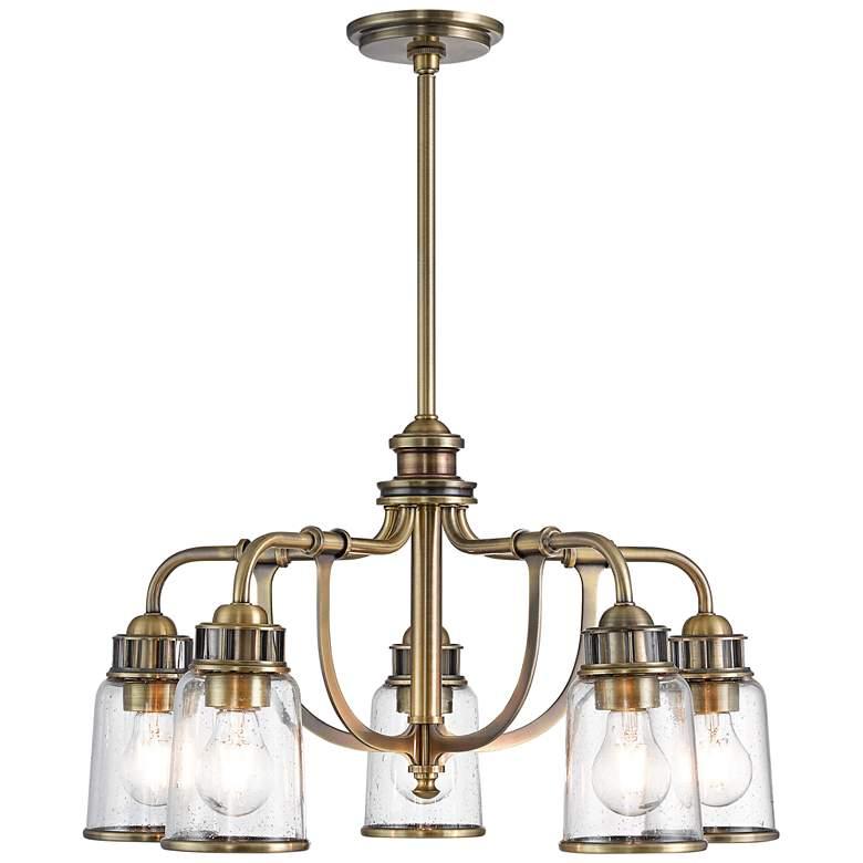 "Lawrenceville 24""W Antique Brass 5-Light Dinette Chandelier"