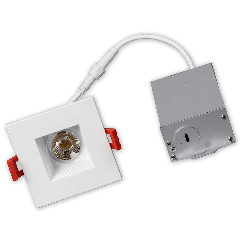 """MicroTask 3"""" Square White 8W Canless LED Downlight"""