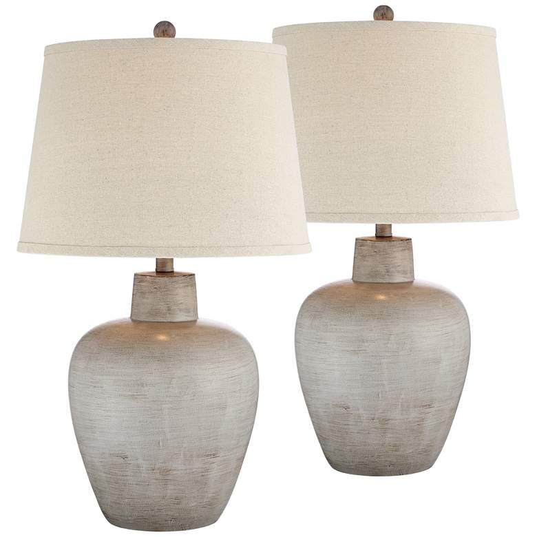Glenn Southwest Urn Table Lamps Set of 2