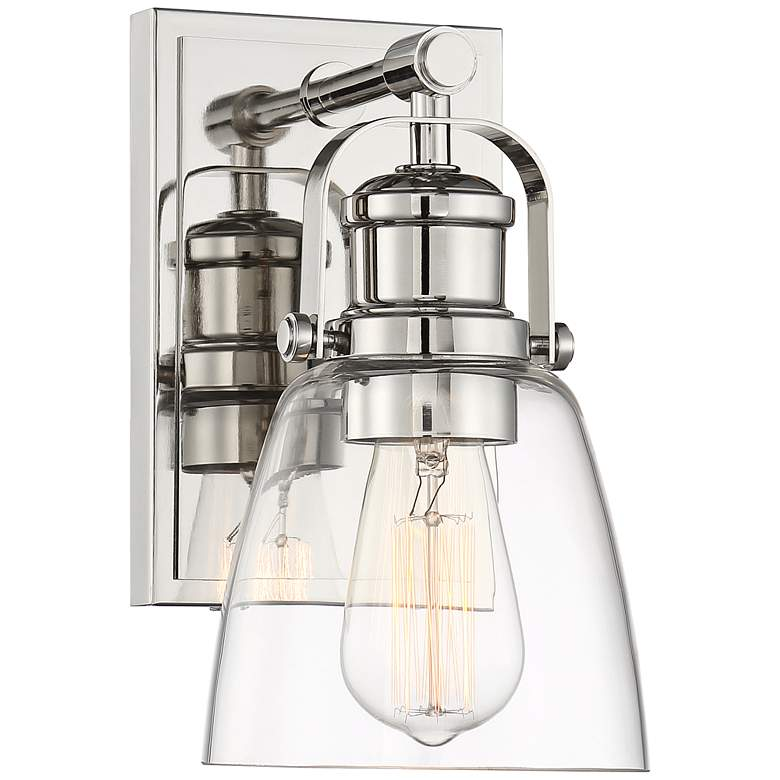 """Kalen 10"""" High Polished Nickel Wall Sconce"""