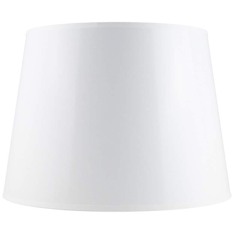 Semi-Gloss White Paper Drum Lamp Shade 13x16x10 (Spider)