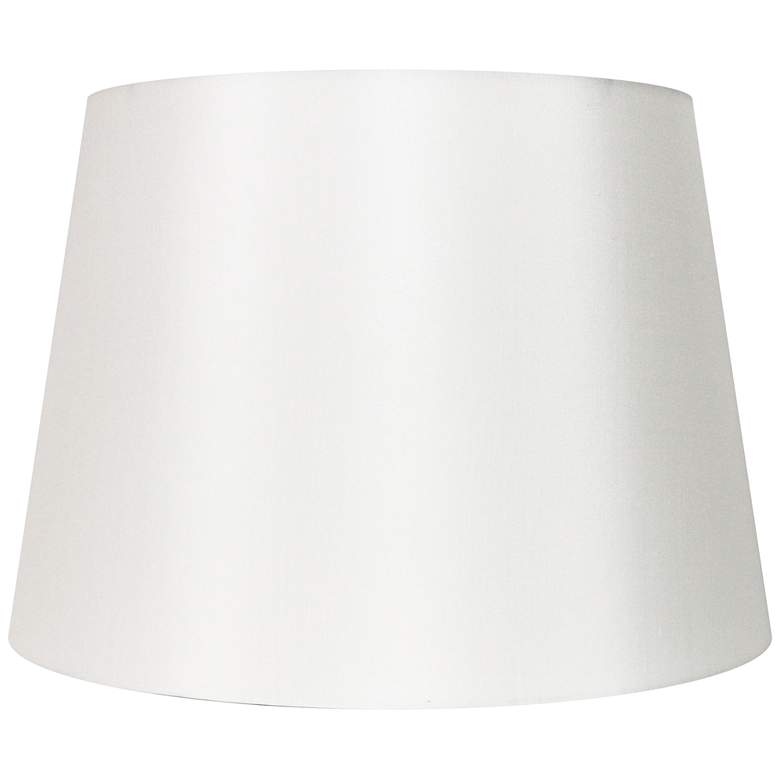 Off-White Silk Drum Lamp Shade 15x18x12 (Spider)
