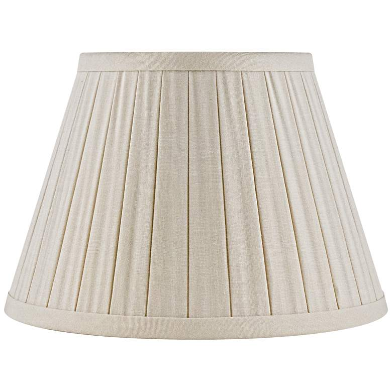 Eggshell Box Pleat Linen Empire Lamp Shade 12x18x12