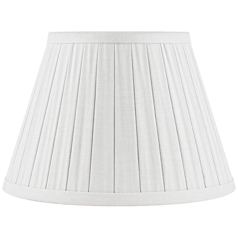 Off-White Linen Box Pleat Empire Shade 12x18x12 (Spider)