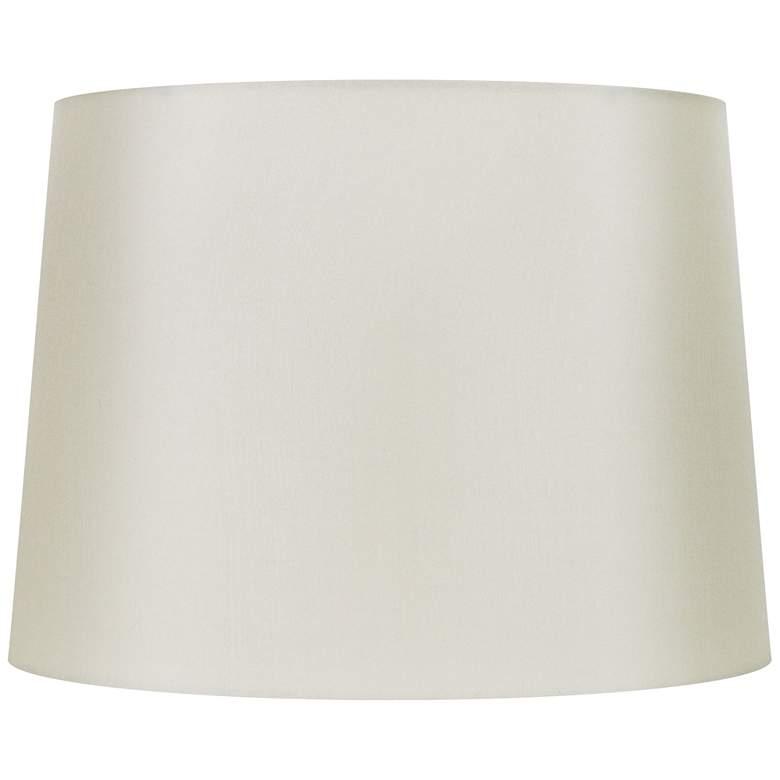 Eggshell Silk Oval Lamp Shade 16/12x18/14x12 (Spider)