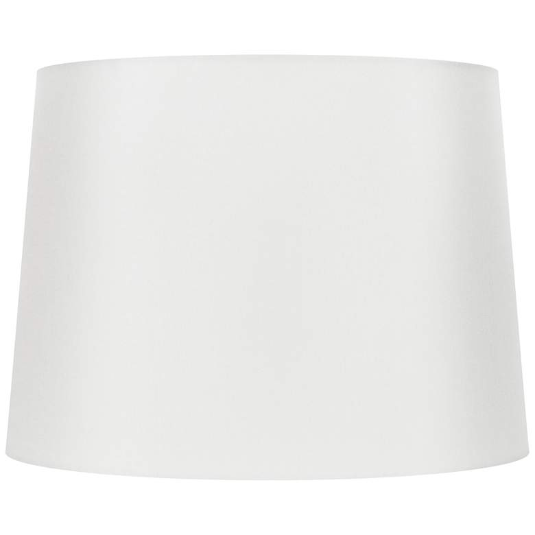 Off-White Silk Oval Lamp Shade 16/12x18/14x12 (Spider)