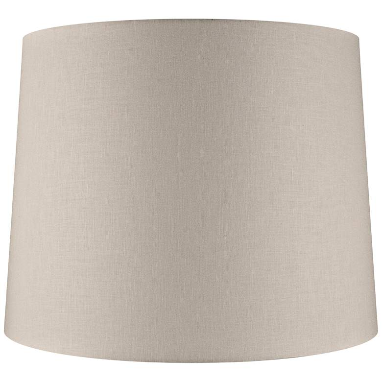 Beige Linen Drum Extra Tall Lamp Shade 16x18x14