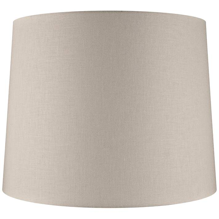 Beige Linen Drum Extra Tall Lamp Shade 16x18x14 Spider 69k40 Lamps Plus