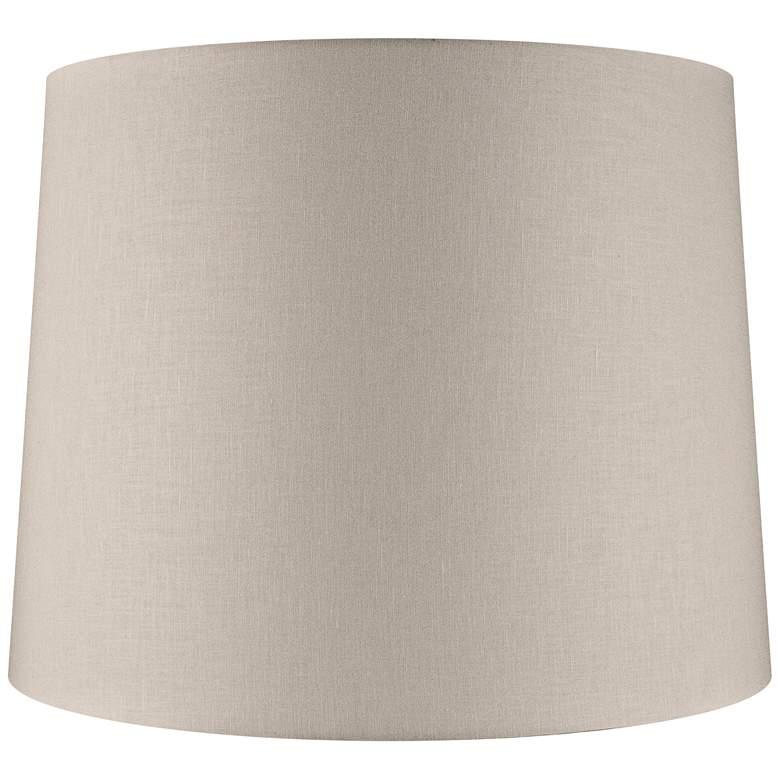 Beige Linen Drum Extra Tall Lamp Shade 16x18x14 (Spider)
