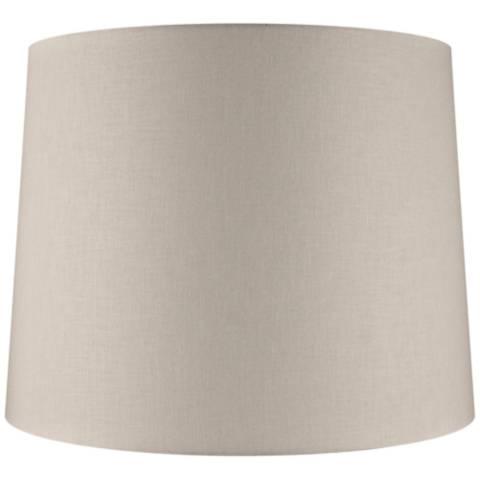 Beige Linen Drum Extra Tall Lamp Shade 16x18x14 Spider