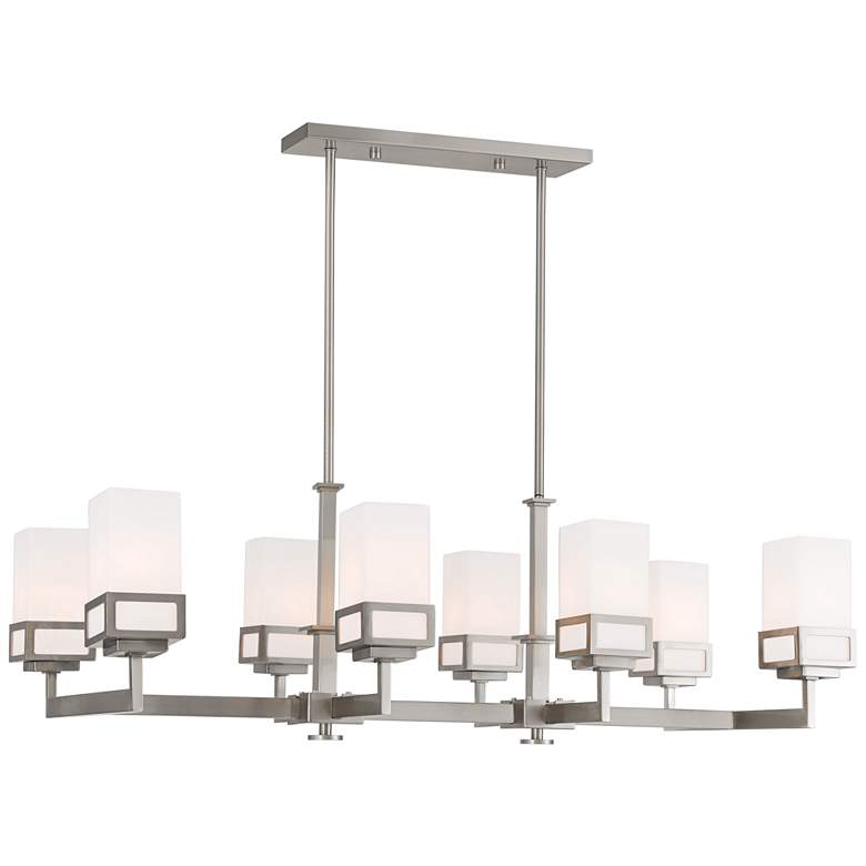 "Harding 40 1/4""W Brushed Nickel 8-Light Island Chandelier"
