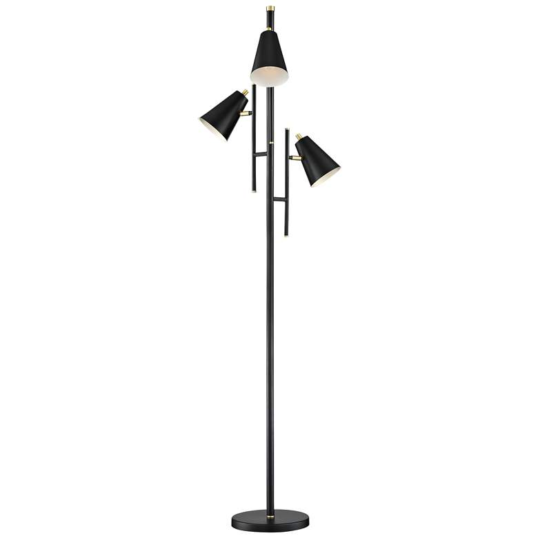 Lite Source Hemington Black Metal 3-Light Floor Lamp