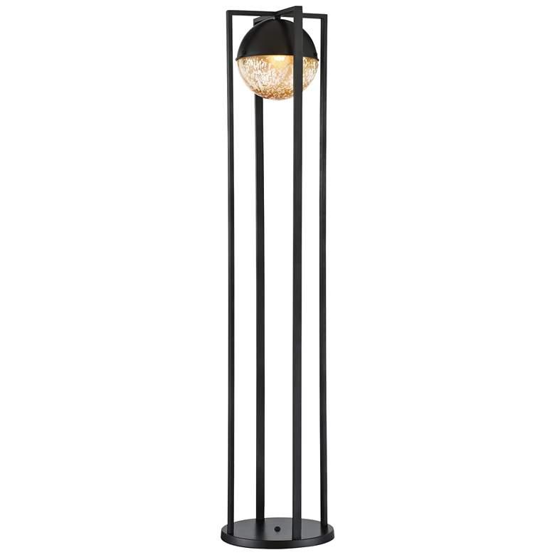 Lite Source Sophiline Matte Black Metal Floor Lamp