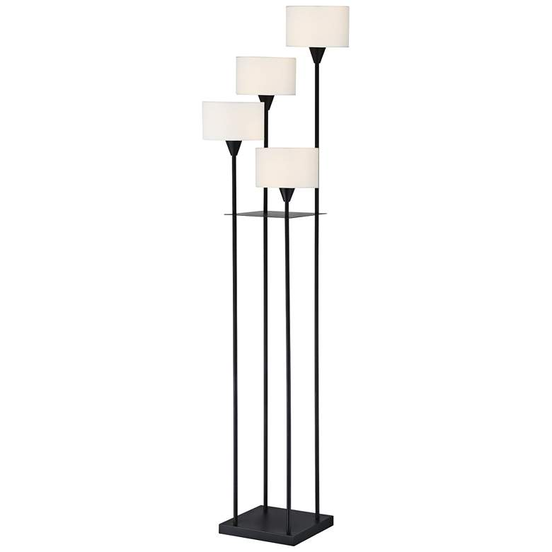 Lite Source Goldman Matte Black Metal 4 Light Floor Lamp 69m34 Lamps Plus