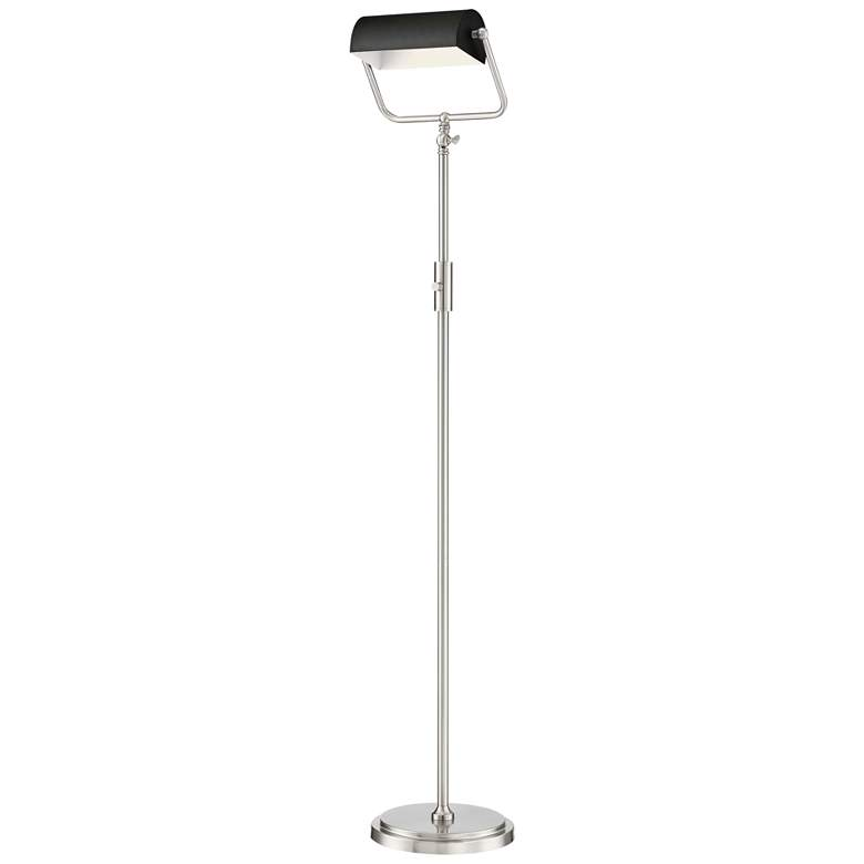 Lite Source Caileb Brushed Nickel LED Floor Lamp