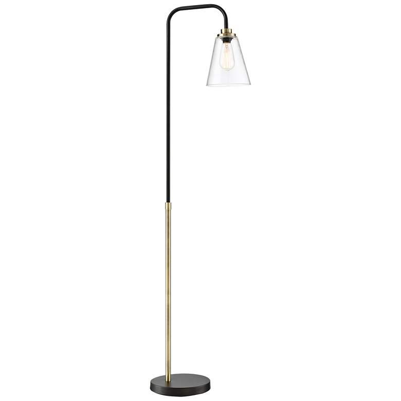 Lite Source Colinton Antique Brass Metal Floor Lamp