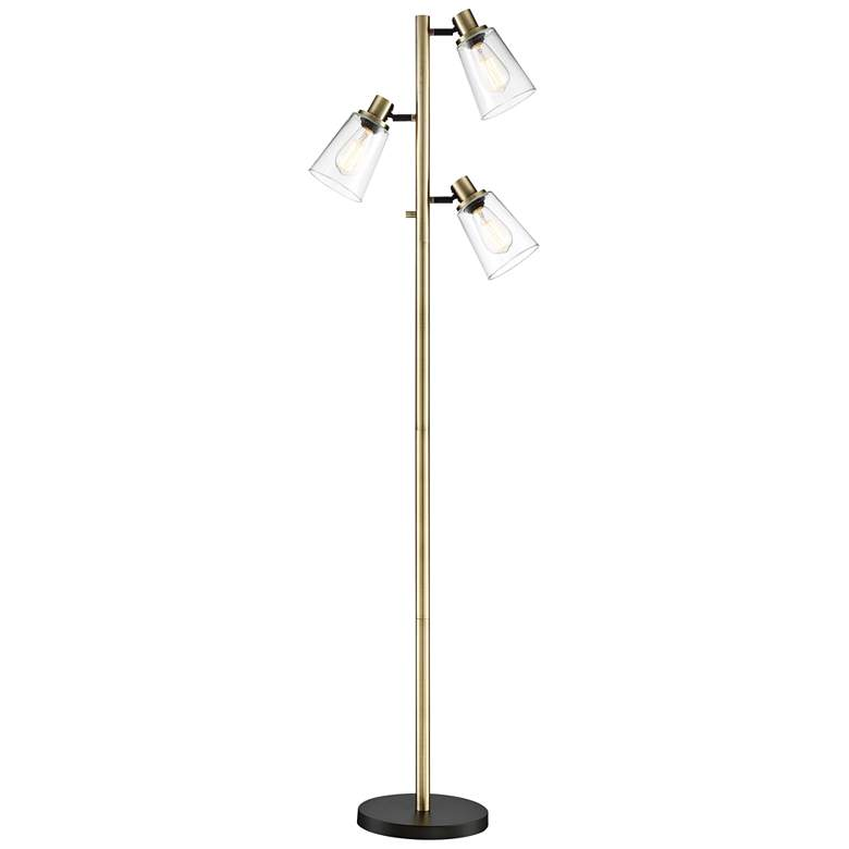 Lite Source Colinton Antique Brass 3-Light Metal Floor Lamp