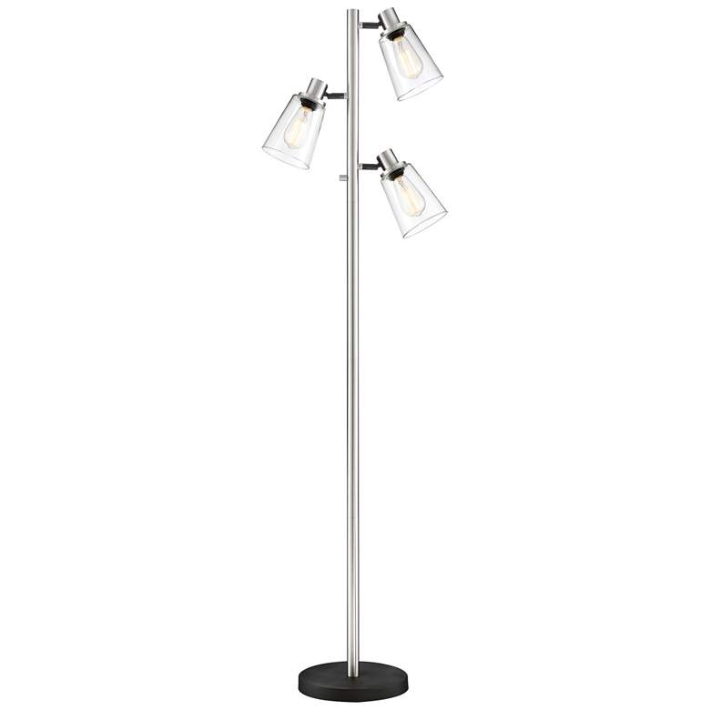Lite Source Colinton Brushed Nickel 3-Light Metal Floor Lamp