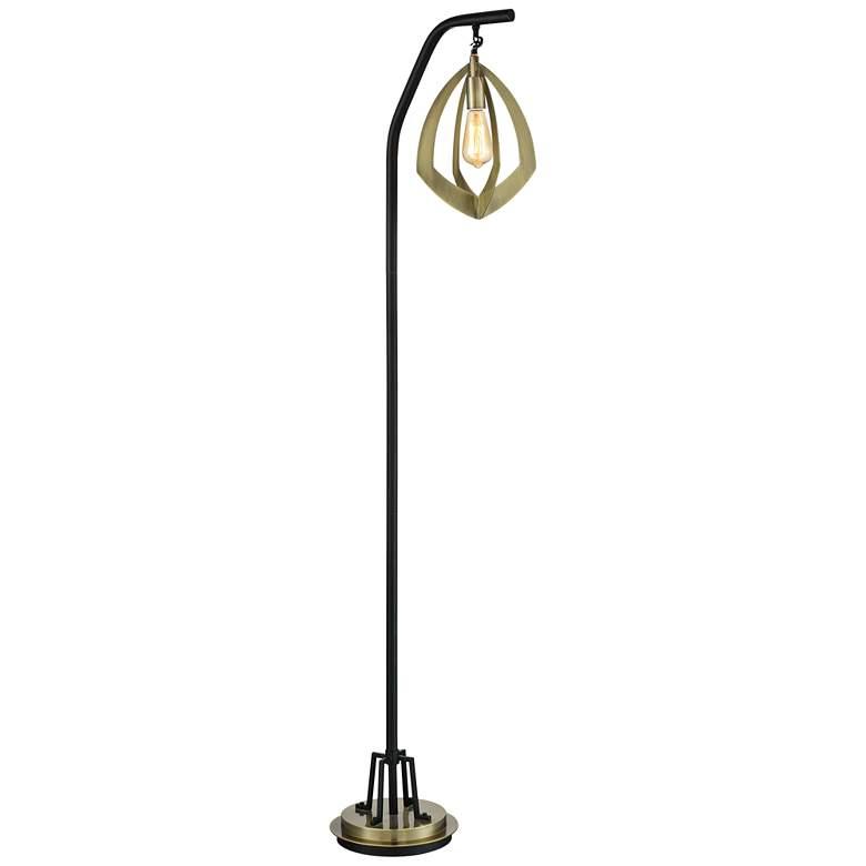 outlet store 06bb7 be675 Rogerton Antique Brass Metal Hanging Lantern Floor Lamp